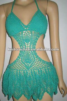 O exclusivo design artesanal crochê maiô biquini do laço, moda praia crochet 100% hand, mão de malha fatos de banho, fatos de banho