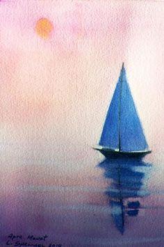 watercolor sailboat - Google Search