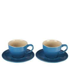 Le Creuset Cappuccino Cups & Saucers, Set of 2