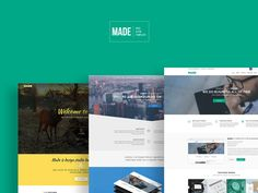 Made is a pack that contains 3 free templates with a clean and simple design suitable for corporate websites and services. The designs were made using a 1170px grid with full width of 1920px. The layers in the psd files are well organised and easy to customize.The author that created and released these resources is Sandhy Nugraha.