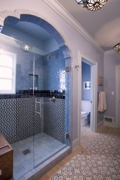 Love arches in the bathroom-this has a Moorish look