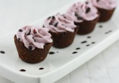 DARK CHOCOLATE COOKIE CUPS WITH STRAWBERRY CREAM