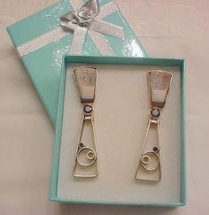 Big Black Diamond & Druzy Dangle Earrings by Zeppola on Etsy, $495.00