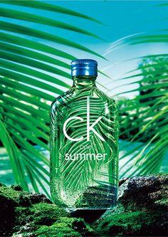 Ck Summer, Bottle Shoot, Web Banner Design, Perfume, Calvin Klein, Fiji Water Bottle, Cosmetic Packaging, Minerals And Gemstones, Men's Grooming