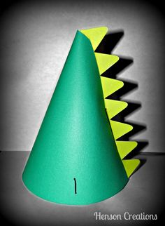 10 Dinosaur Party hats with spikes on Etsy, $20.00