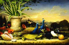 Kevin Sloan | Allegorical Realist painter | The Golden Garden