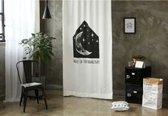 Moonlight Black Out Wide Fabric for Curtains one by cottonholic