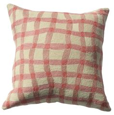 Eliza Piro | Embroidered Cushion | Pink Gingham – Rose St Trading Co