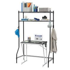 Although your dorm room or apartment may seem small, the Dorm Space Saver from Equip Your Space can help you can maximize your space. This Dorm Space Saver will keep all of your essentials neat and close at hand. Laundry Shelves, Storage Shelves, Storage Spaces, Shelving, Laundry Room, Boho Pattern, College Dorm Essentials, Collapsible Storage Bins, Dorm Organization