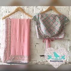 Designer Peach Saree Saree : Faux Georgette Fabric Blouse : Banglori Silk fabric With heavy work ( Unstitched ) Work : Heavy Thread Work Price : 1900 INR ONLY To buy WhatsApp @ 9054562754 Lehenga, Sabyasachi, Saree Blouse Patterns, Saree Blouse Designs, Dress Designs, Fancy Sarees, Party Wear Sarees, Saree Designs Party Wear, Saris