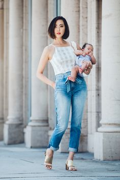 Check Crop Top & Paperbag Waist Pants - The Chriselle Factor #TheChriselleFactor