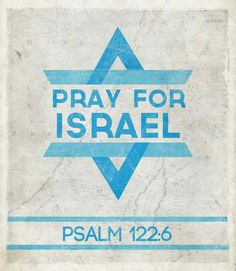 Please pray for Israel and the World. Pray for Peace.