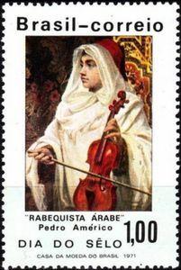 Sello: Painting (Brasil) (Stamp Day) Mi:BR 1286,Sn:BR 1192,Yt:BR 958,RHM:BR C-702