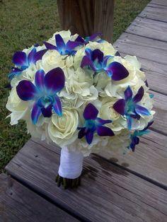 Bouquet azzurro e bianco
