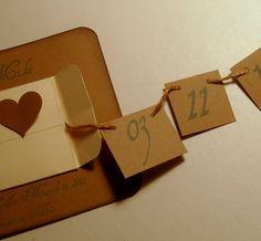 rustic save the date pull string envelope unique von 0namesleft