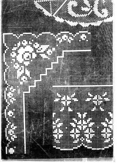 Filet Crochet Charts, Crochet Stitches, Holidays And Events, Stitch Patterns, Cross Stitch, Diy And Crafts, Deco, Knitting, Vintage