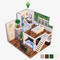 the sims 4 house building Sims 4 House Plans, Sims 4 House Building, Sims 4 House Design, Tiny House Design, Sims 4 Loft, Sims 4 Bedroom, Sims 3 Rooms, Sims Free Play, Casas The Sims 4