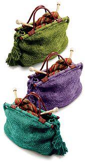 Ravelry: Knitting Tote pattern by Donna Yacino