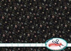 SMALL FLORAL Fabric by the Yard Fat Quarter Sage & by FabricBrat