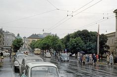 Amazing Pics Capture Street Scenes of Salzburg in the Early 1960s ~ Vintage Everyday Baroque Architecture, Amazing Pics, Salzburg, Capital City, Colorful Pictures, Alps, 18th Century, Austria, Vintage Photos
