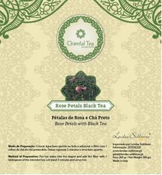 Oriental Tea - Chás Orientais - Oriental Tea Chá Preto Pétalas de Rosa 150 Grs // Lendas Sublimes - Produtos Gourmet
