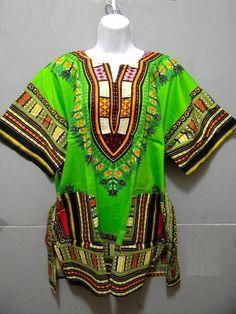 Dashiki Caftan Fashion Tribal Abstract Ethnic Rasta Kimono Style M L XL New Top | eBay