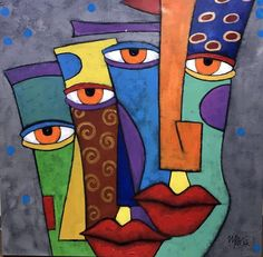 Mani Inamullah Abstract Painting: I Can See It Oil On Canvas 2016 Abstract Face Art, Abstract Canvas, Canvas Art, African Abstract Art, Cubism Art, Abstract Expressionism Art, African Art Paintings, Urbane Kunst, Picasso Art