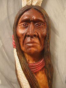Native American Indian Wood Carvings | Wood Carving Wood Spirit Native American Indian Pride | eBay