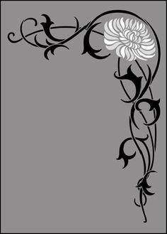 Art Nouveau Motif No 65 stencils, stensils and stencles