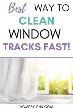 Learn how to clean window tracks fast and the right way. Get rid of any dust, dirt, and debris lingering for a fresh and clean window track. #windows #cleaning #guide #howto #best #easy #windows #home #fresh via @homebyjenn Cleaning Routines, Cleaning Hacks, Cleaning Wipes, Daily Routines, Cleaning Window Tracks, Clean Window, How Do You Clean, All Purpose Cleaners, Window Cleaner