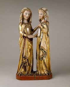 The Visitation Attributed to Master Heinrich of Constance  (German, active in Constance, ca. 1300)  © The Metropolitan Museum of Art
