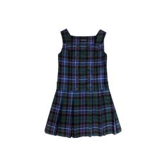 Jane Marple Online Shop :: タータンチェックのミニジャンパースカート 商品詳細 ❤ liked on Polyvore featuring dresses, clothing - dresses and blue dress