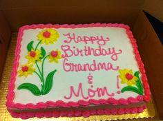 birthday sheet cake flowers - Google Search