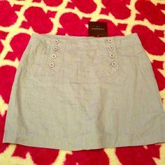 Linen Skirt Lightweight light blue skirt Cynthia Rowley Skirts