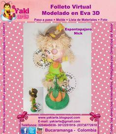 "FOLLETOS MODELADOS EN EVA 3D     YAKIARTS ""Eva Hecho Arte""  te ofrece folletos de modelado en eva 3D para que puedas realizar en tu casa e..."