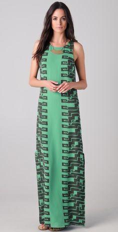 d82617a9d3 Cadenza Print Maxi Dress