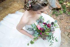 Bohemian flower bouquet for a bride.