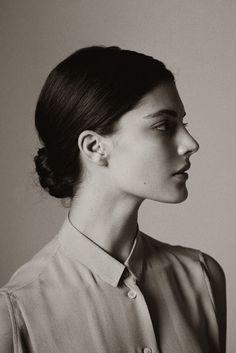 Great lighting. Great profile. of Model Katryn Kruger.