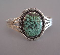 Navajo China Mountain turquoise sterling bracelet