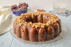 Halva with Whole Wheat Flour. Greek traditional festive dessert made with whole wheat flour and grape molasses. Greek Recipes, Vegan Recipes, Vegan Sugar, Whole Wheat Flour, Sugar Free, Pudding, Sweets, Healthy, Breakfast