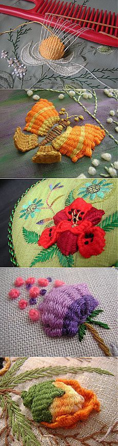 What a genius way to keep threads straight and even while weaving!