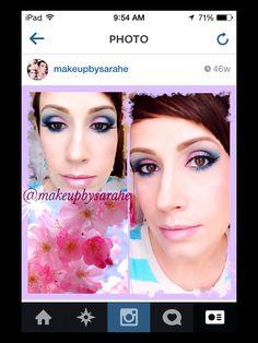 Spring colorful makeup.