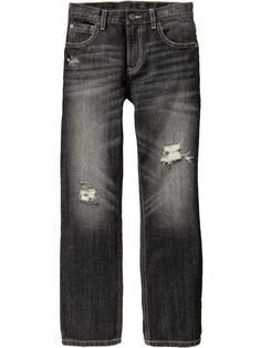 Old Navy Boys Distressed Straight Leg Jeans