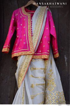 Dress gowns Photo By Hansa Khatwani - Bridal Wear Photo By Hansa Khatwani - Bridal Wear Sari Blouse Designs, Saree Blouse Patterns, Indian Wedding Outfits, Indian Outfits, Indian Clothes, Bridal Outfits, Saree Styles, Blouse Styles, Saree Draping Styles
