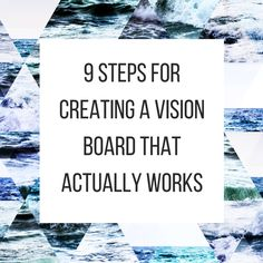 Do you want to make a vision board that works? Do vision boards work? In this post, I share 9 steps for creating a vision board that actually works. Mantra, Goal Board, Creating A Vision Board, Visualisation, Goal Planning, Law Of Attraction, Self Help, Planer, Spirituality