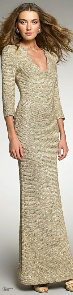 Oscar De La Renta ~ Crocheted Sequin Gown LLLOVEEEEE !!!!!!!!!!!