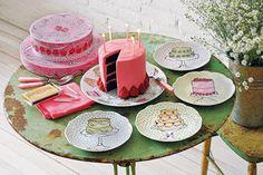Eat Dessert First Cake Plate and Dessert Plates