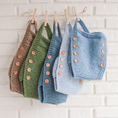 petos de lana en distintos colores y tallas