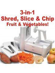 Spirooli 3 in 1 Vegetable Slicer & Turner