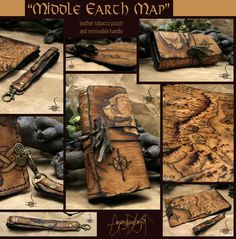 Middle earth custom tooled leather wallet